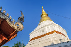 Golden pagoda in Thai temple Royalty Free Stock Image