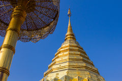 The golden pagoda Thai , Thai arts. Stock Image