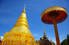 Golden pagoda,Thailand Royalty Free Stock Photos