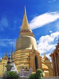 Golden pagoda , Thailand. royalty free stock images