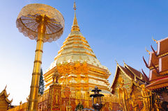 Golden pagoda, Thailand Royalty Free Stock Photo
