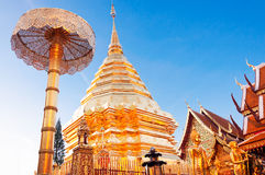 Golden pagoda, Thailand Stock Images