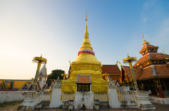 Golden pagoda in thailand. Main golden old pagoda in temple thailand stock image