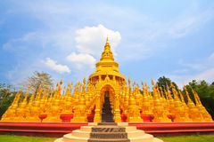 Golden pagoda in Thailand Royalty Free Stock Photos