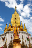 Golden pagoda on top of Mount Popa in Myanmar Royalty Free Stock Photos