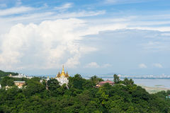 Golden pagoda on top of Sagaing hill, Mandalay, Myanmar Stock Photo