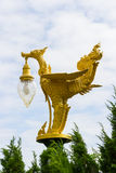 Golden pagoda under blue sky Royalty Free Stock Image