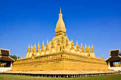 Golden pagoda in Vientiane Royalty Free Stock Photo