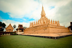 Temple in Vientiane (Wat Thad Luang) Stock Image