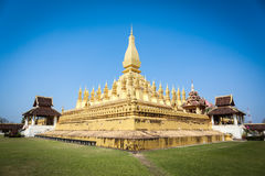 Golden pagoda in Vientiane Royalty Free Stock Photos