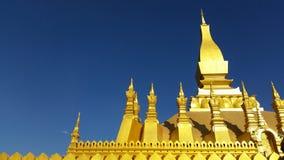 Golden pagoda at Vientiane Stock Image