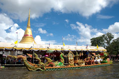 Golden Pagoda of Wat Bang Phli Yai Nai, Thailand. Stock Image