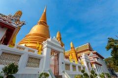 Golden Pagoda at Wat Bovorn (Bowon) Nivet Viharn in Bangkok Stock Photo