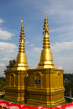 Golden pagoda at Wat Hyua pla kang pagoda Royalty Free Stock Image