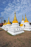 Golden Pagoda in wat jehdi shao, lumphang, thailand Stock Image