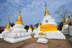 Golden Pagoda in wat jehdi shao, lumphang, thailand Royalty Free Stock Image
