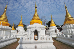 Golden Pagoda in wat jehdi shao, lumphang, thailand Royalty Free Stock Photography