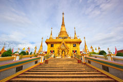 Golden pagoda at Wat Khiri Wong, Thailand Royalty Free Stock Photography