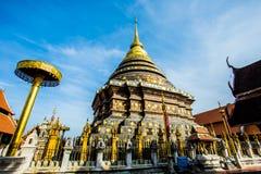 Golden pagoda wat lampangluang lampang province Thailand Stock Photos