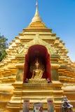 Golden pagoda at Wat Phan Ohn temple in Chiang Mai Stock Images