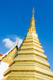 Golden Pagoda at Wat Phra That Cho Hae Stock Photo
