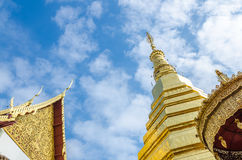 Golden Pagoda at Wat Phra That Cho Hae Stock Image