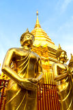 Golden Pagoda in Wat Phra That Doi Suthep is attractive landmark Royalty Free Stock Photography