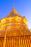 Golden Pagoda in Wat Phra That Doi Suthep is attractive landmark Royalty Free Stock Images