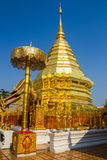 Golden pagoda wat Phra That Doi Suthep Royalty Free Stock Photography