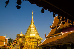 Golden pagoda wat Phra That Doi Suthep Royalty Free Stock Image
