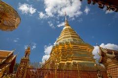 Golden pagoda wat Phra That Doi Suthep chiangmai Thailand Stock Photos