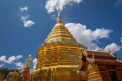 Golden pagoda wat Phra That Doi Suthep chiangmai Thailand Royalty Free Stock Images