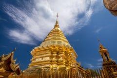 Golden pagoda wat Phra That Doi Suthep chiangmai Thailand Stock Images