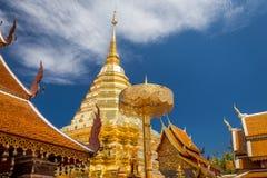 Golden pagoda wat Phra That Doi Suthep chiangmai Thailand Royalty Free Stock Image