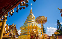 Golden pagoda of Wat Phra That Doi Suthep temple Royalty Free Stock Photos