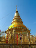 Golden Pagoda Wat Phra that hariphunchai (Famous Public Temple). In Lamphun, Thailand Stock Images