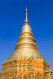 Golden Pagoda at Wat Phra That Hariphunchai  Stock Image