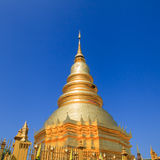 Golden Pagoda at Wat Phra That Hariphunchai in Lamphun province, Stock Photography
