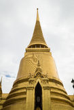 Golden Pagoda. In Wat Phra Kaew, landmark of Bangkok, Thailand Royalty Free Stock Image