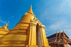 Golden Pagoda at Wat Phra Kaew - the Temple of Emerald Buddha in Bangkok Stock Photos
