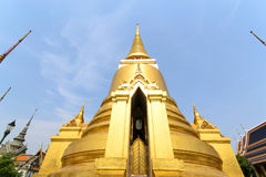 Golden pagoda in Wat Phra Keaw Royalty Free Stock Image