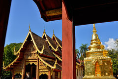 Golden Pagoda of Wat Phra Singh in Chiang Mai Stock Photography