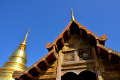 Golden Pagoda of Wat Phra Singh in Chiang Mai Royalty Free Stock Photo