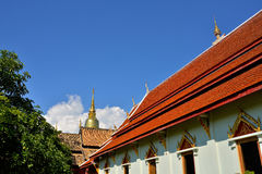 Golden Pagoda of Wat Phra Singh in Chiang Mai Royalty Free Stock Images