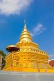 Golden Pagoda at Wat Phra That Sri Chom Thong. Thailand stock photos