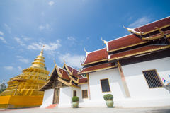 Golden Pagoda, Wat Phra That Sri Jom Thong Royalty Free Stock Photos