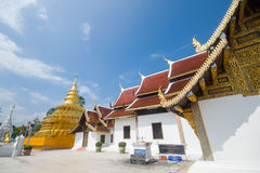 Golden Pagoda, Wat Phra That Sri Jom Thong Stock Image