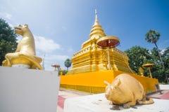 Golden Pagoda, Wat Phra That Sri Jom Thong Stock Photos