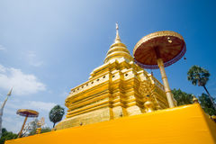 Golden Pagoda, Wat Phra That Sri Jom Thong Royalty Free Stock Photography