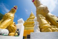 Golden Pagoda, Wat Phra That Sri Jom Thong Stock Images